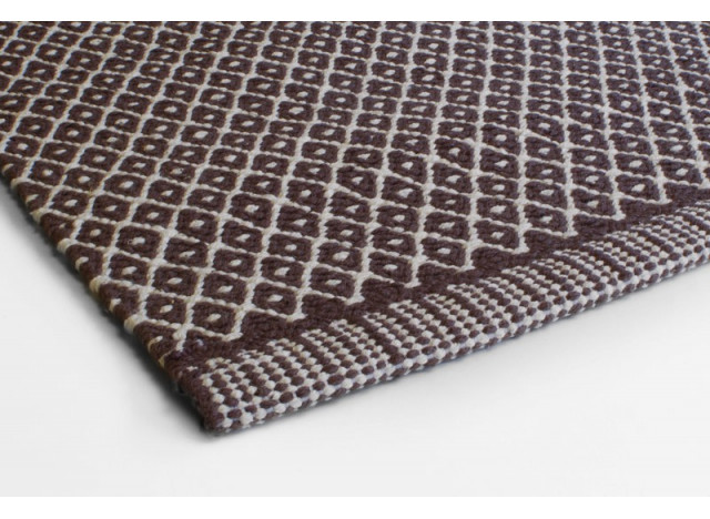 Floor Mat Rhombe Brown
