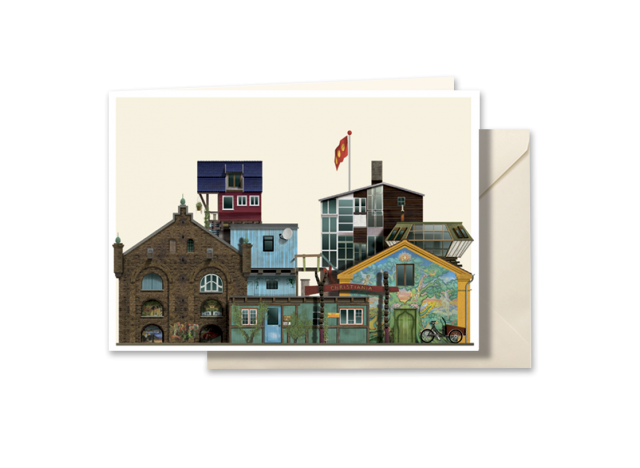Christiania postkort af Martin Schwartz - A5