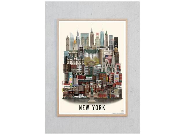 New York poster by Martin Schwartz - A3