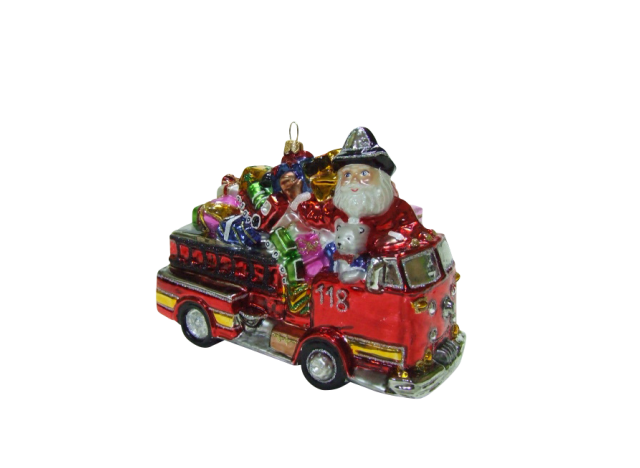 Christmas Ornament Fire Engine