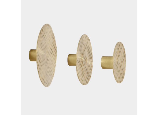 Brass Hooks set of 3