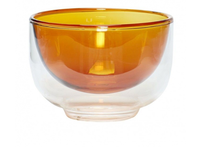 Bowl Glass Amber Ø13xh9cm