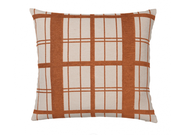 Cushion Chequer 60x60 Rust
