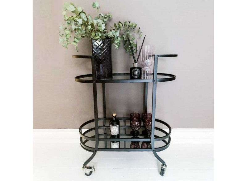 Bar trolley w glass shelfes - Margit Brandt