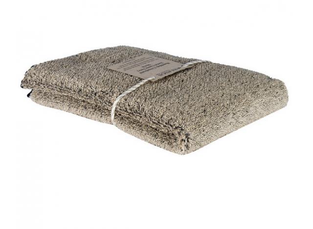 Håndklæde hør 50x70 Nat-sort