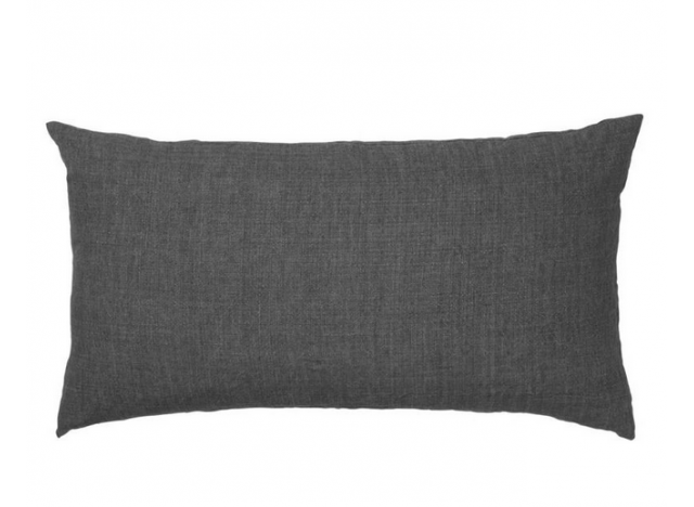 Stor Hotel Pude Linen 50x90 Charcoal