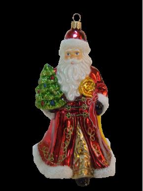 Julekugle julemand med træ - Håndlavet