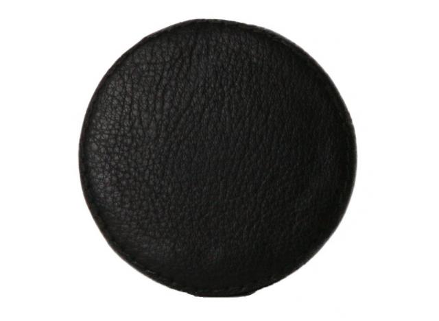 Knage Læder Sort 6 cm
