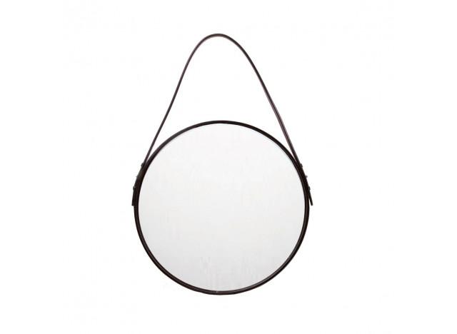 Spejl rund læder Ø40cm