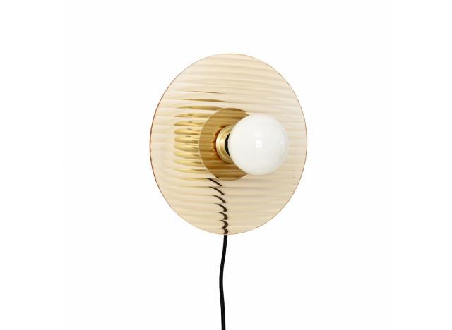 Wall lamp Glass-Brass