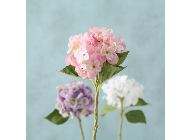 Hortensia Hvid-Lila-Lyserød 40cm