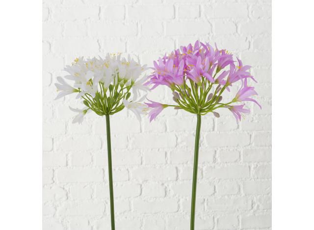 Lotus blomst Lilla-Hvid 80cm