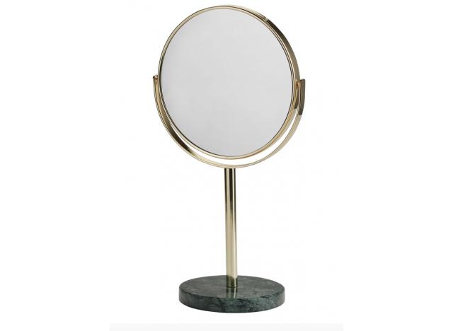 Spejl på marmorbase grøn H34
