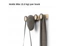 Rail Hook 4-Hub Nature