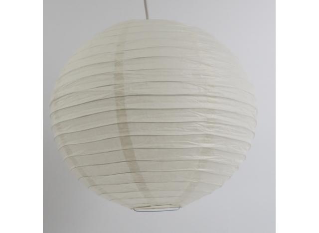 Rispapir lampesk rm 30 cm. Offwhite