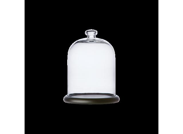 Bell Jar Glass w wooden base