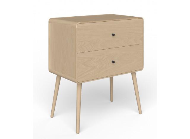 The BOX TWO Kommode-Natbord Hvidolieret