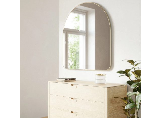 HUBBA Arched Wall Mirror Brass
