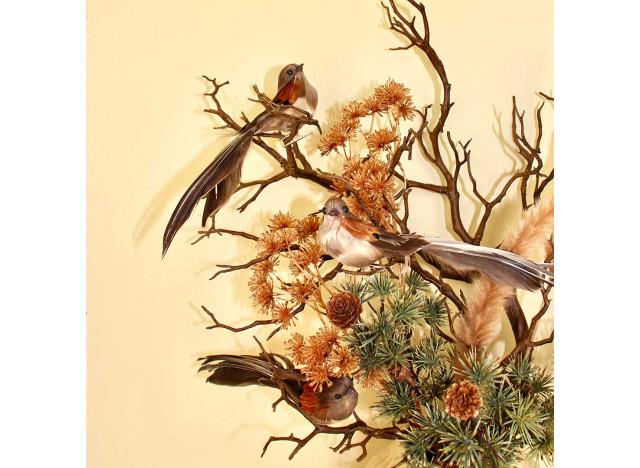 Bird rust with clip !8 cm