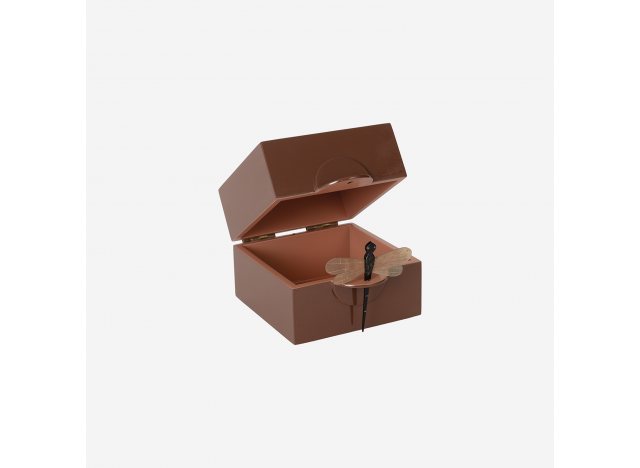 Lacquer box w Dragonfly Cinnamon