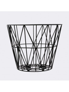 Wire Basket Black Large - Ferm Living