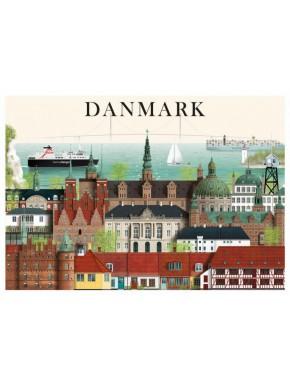 Danmark kort - 1 - A5