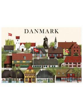 Danmark kort - 3 - A5
