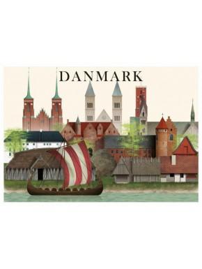 Danmark kort - 4 - A5