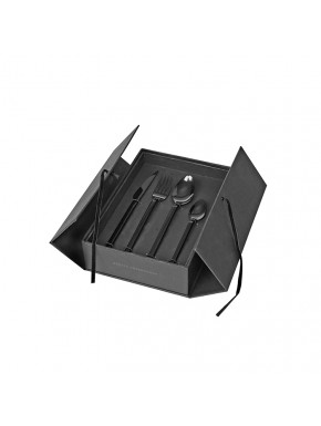 Cutlery - tvis - 16 parts - Black