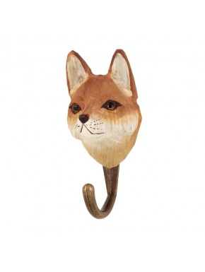Handcarved hook Red Fox