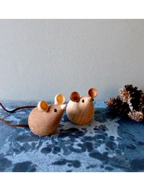 Mice in oak and smoked oak - 2pc