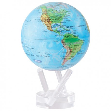 Moving Globe Blue Relif 8,5´´
