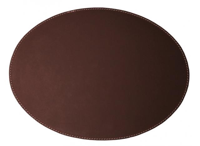 Dækkeserviet Læder Oval Chocolat