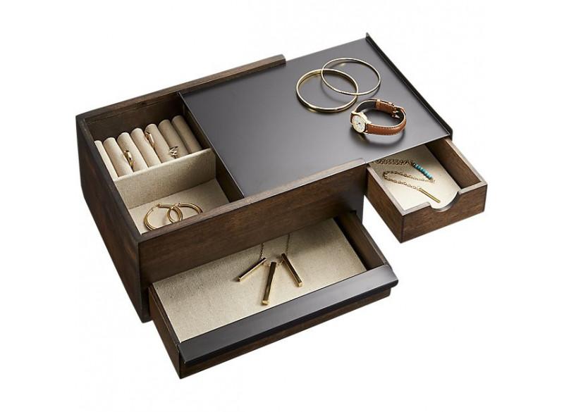 Stowit jewelry box, walnut
