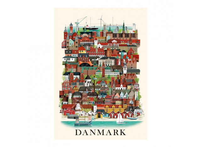 Poster Danmark, A3, Martin