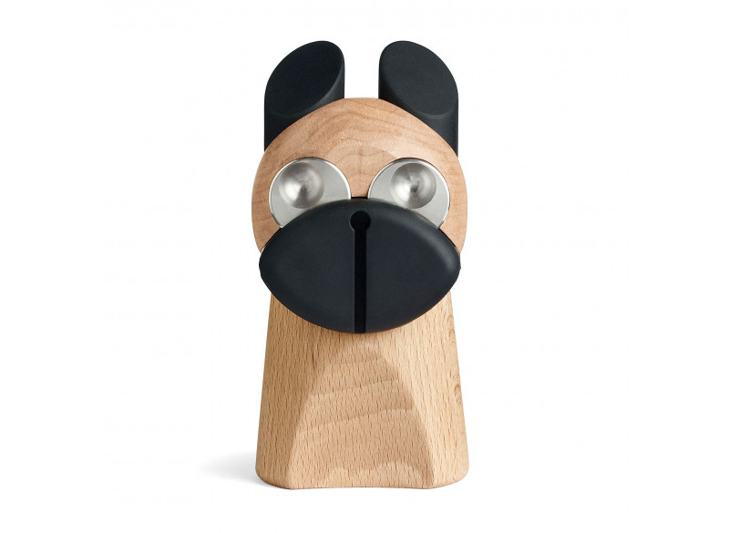 Hund med messing øjne