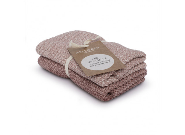 Knitted dishcloth in 100% cotton