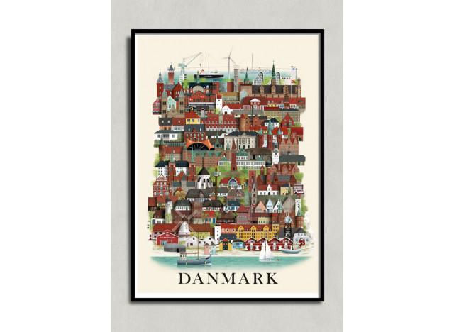 Poster Danmark- 50x70