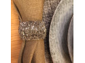 Napkin ring with silver beads