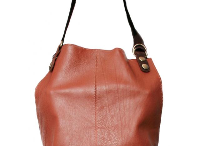 Apron in leather - colour Cognac