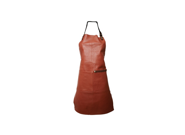 Apron in leather - colour Cognac