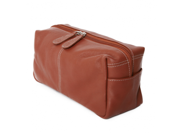 Toilet bag large Cognac