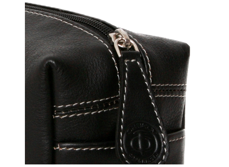 Toiletbag leather S Black