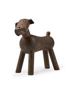 Terrier dog Tim - smoked oak - Kay Bojesen