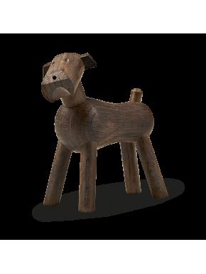 Terrier hunden Tim - røget eg Kay Bojesen