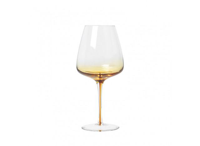 Mundblæst Glas - Amber