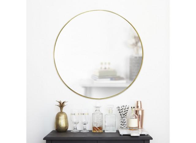 Mirror HUBBA brass 80 cm