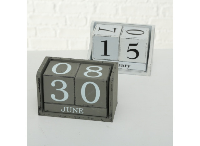 Calender in white ore grey