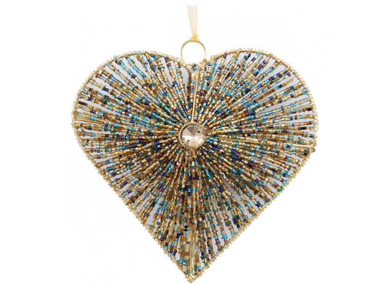 Hjerte m perler stor