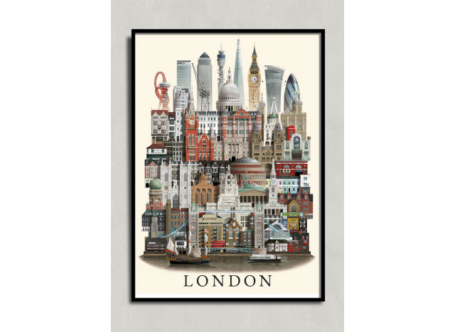 Poster London MS 50x70cm